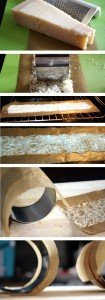 Zubereitung des Parmesantunnels