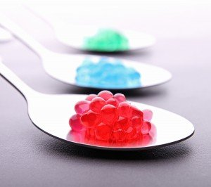 spoon on molecular caviar