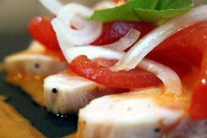 Tomatensalat Nahaufnahme