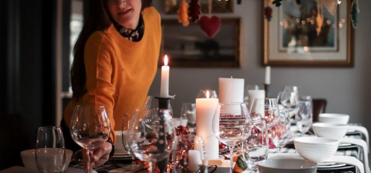 Tisch richtig decken für ein Herbst-Menü
